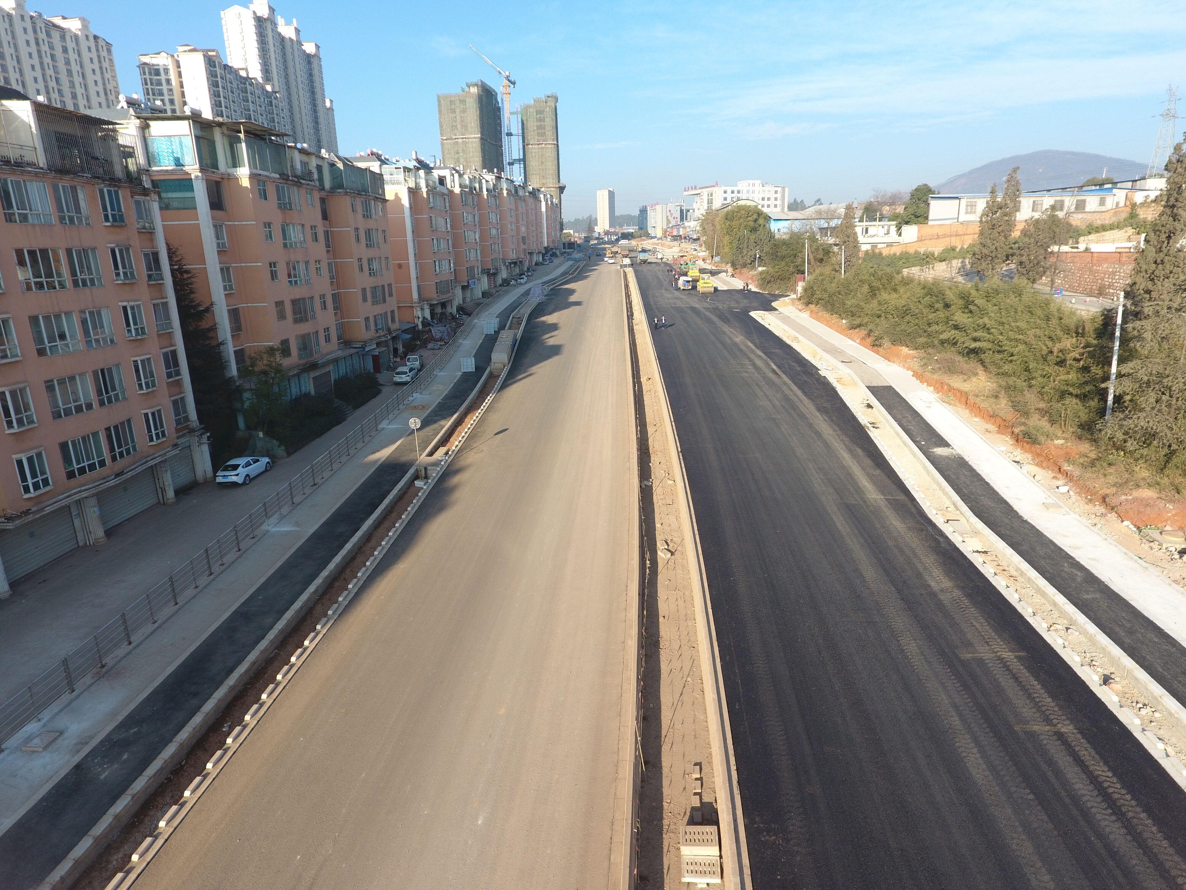 320国道安宁城区段金方路口至湖东路口段改造工程项目进度概况