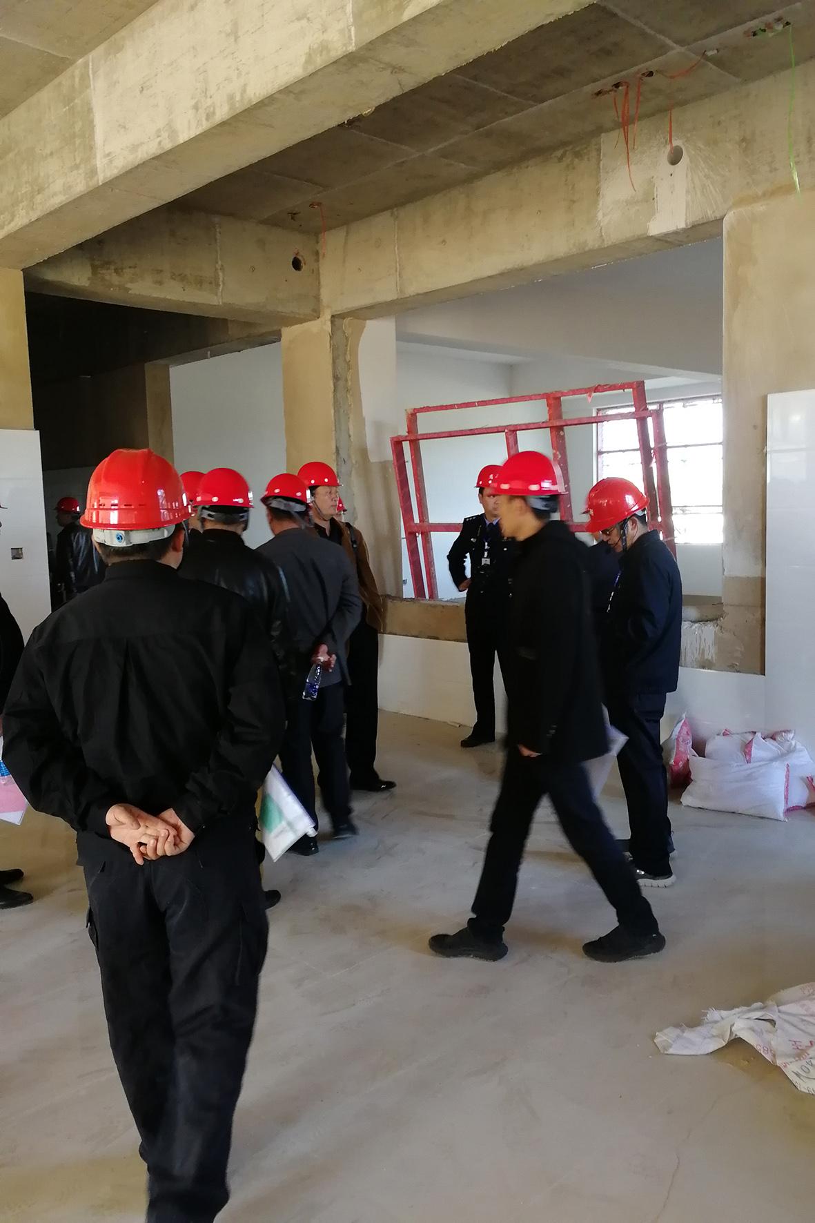 云南省戒毒局强戒系统观摩学习我司监理的云南省第二强制隔离戒毒所施工现场