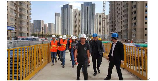 公司参加由万博mantex官网住建局组织的装配式建筑示范工程观摩会