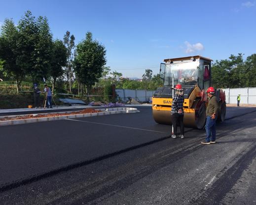 我公司监理的万博mantex官网城市基础设施PPP项目(一期)第一个道路项目沥青路面完工