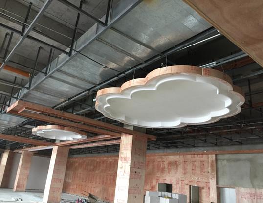 万博mantex官网城市文化中心内装工程项目进度展示